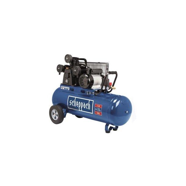 Kompressor, HC 550 TC, 4 hk., 100 ltr. tank, transp. på hjul