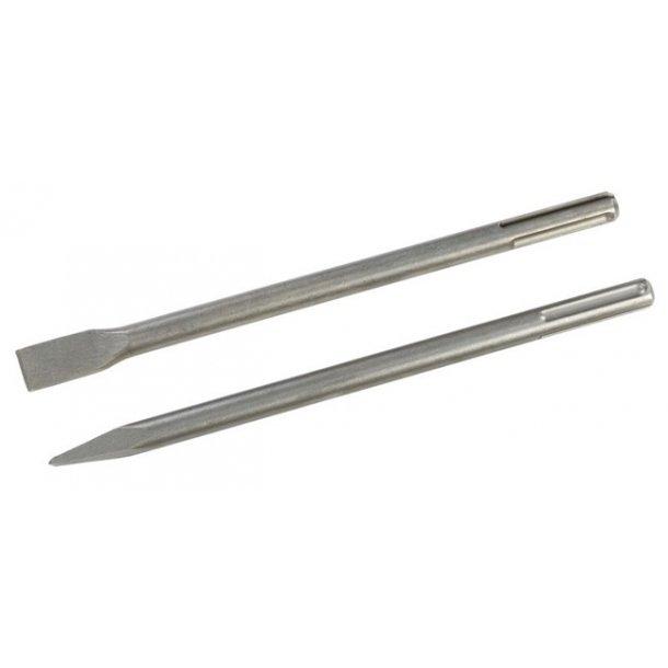 Mejselsæt SDS max, Flad + spids, lgd. 350 mm., 2 dele