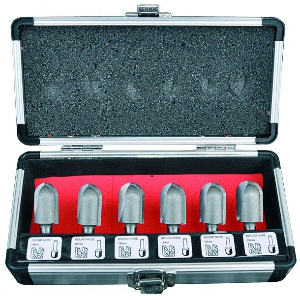 Overfræsesæt HM 6 dele, 20 mm. t/gulvvarmeslanger, K8, i alu-kuffert
