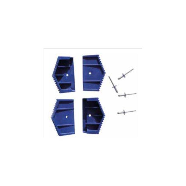 Dupsko, blå plast 4 stk., t/arbejdsbukke og trappestiger